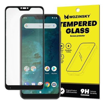 Super odolné tvrzené sklo Full Glue přes celý displej s rámem Case Friendly Xiaomi Mi A2 Lite / Redmi 6 Pro černé