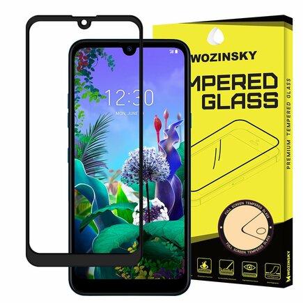 Wozinsky super odolné tvrzené sklo Full Glue na celý displej s rámem Case Friendly LG Q60 / LG K50 černé