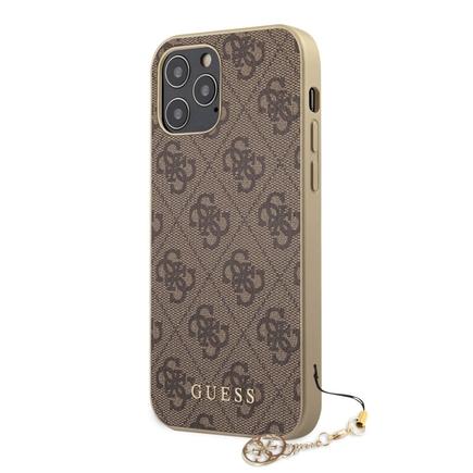 4G Charms pouzdro pro iPhone 12 / 12 Pro hnědé