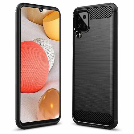 Carbon Case elastické pouzdro Samsung Galaxy A12 černé