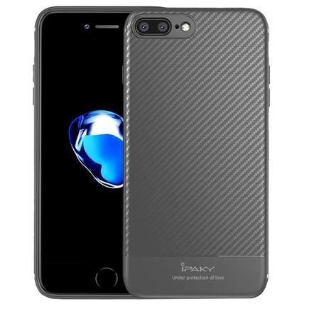 Carbon Fiber elastické pouzdro iPhone 8 Plus / 7 Plus šedé