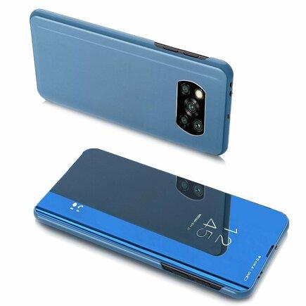 Clear View Pouzdro s flipovým krytem Xiaomi Poco X3 NFC / Poco X3 Pro modré