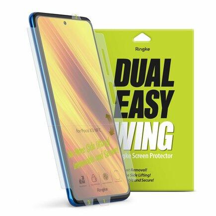 Dual Easy Wing 2x ochranná fólie na displej a boky telefonu Xiaomi Poco X3 NFC (DWXI0003)