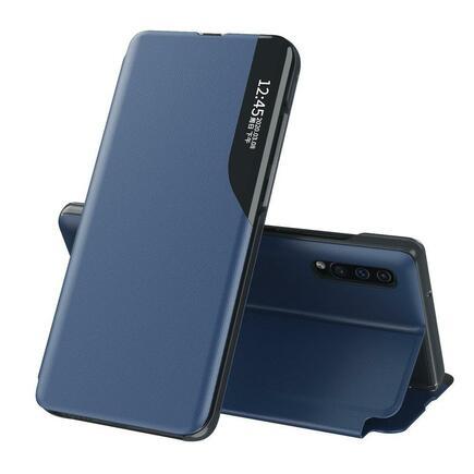 Eco Leather View Case elegantní pouzdro s klapkou a funkcí podstavce Samsung Galaxy A10 modré