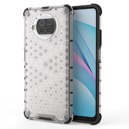 Honeycomb pancéřové pouzdro s gelovým rámem Xiaomi Mi 10T Lite průsvitné