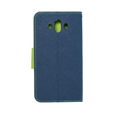 Pouzdro Fancy Book Huawei Mate 10 tmavě modré/limetkové