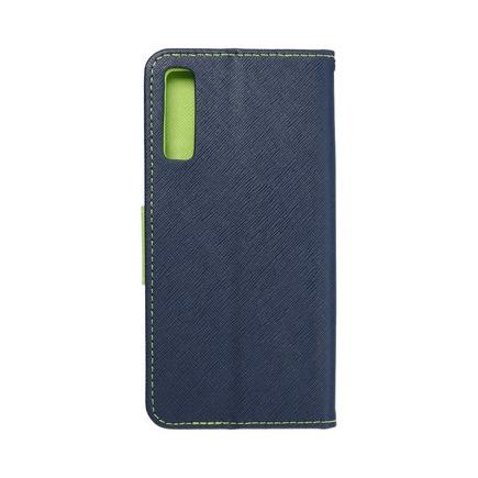 Pouzdro Fancy Book Samsung A7 2018 (A750) tmavě modré/limetkové