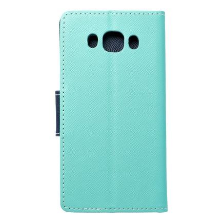 Pouzdro Fancy Book Samsung Galaxy J5 2016 mátově zelené/tmavě modré