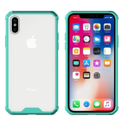 Shockproof gelové zesílené pouzdro iPhone X zelené