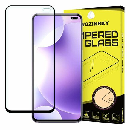 Super odolné tvrzené sklo Full Glue na celý displej s rámem Case Friendly Xiaomi Redmi K30 černé