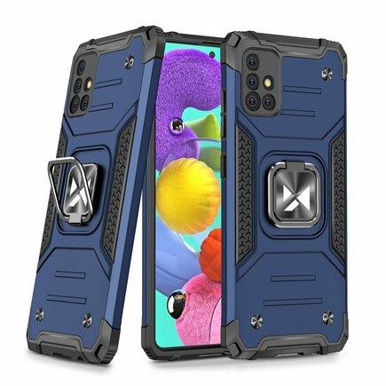 Wozinsky Ring Armor pancéřové hybridní pouzdro + magnetický úchyt Samsung Galaxy A51 5G modré