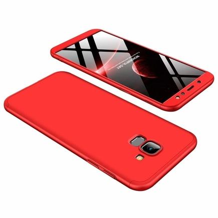 360 Protection pouzdro na přední i zadní část telefonu Samsung Galaxy A6 2018 A600 červené