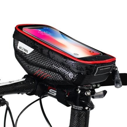 """Cyklistický úchyt / taška s pouzdrem na řídítka, se zipem WILDMAN E1 1L 4"""" - 7"""""""