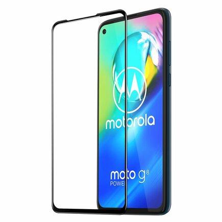 Dux Ducis 9D Tempered Glass odolné tvrzené sklo 9H na celý displej s rámem Motorola Moto G8 Power černé (case friendly)