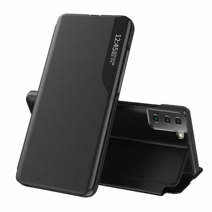 Eco Leather View Case elegantní pouzdro s klapkou a funkcí podstavce Samsung Galaxy S21 5G černé