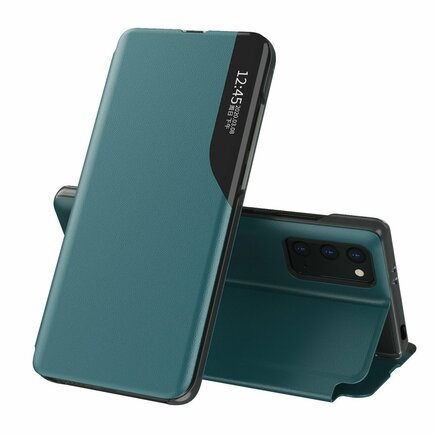 Eco Leather View Case elegantní pouzdro s klapkou a funkcí podstavce Xiaomi Poco M3 / Xiaomi Redmi 9T zelené