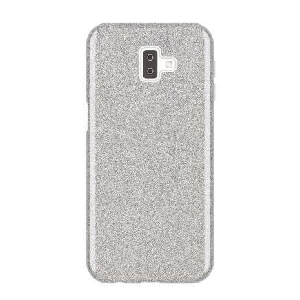 Glitter Case lesklé pouzdro s brokátem Samsung Galaxy J6 Plus 2018 J610 stříbrné