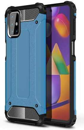 Hybrid Armor pancéřové hybridní pouzdro Samsung Galaxy M31s modré