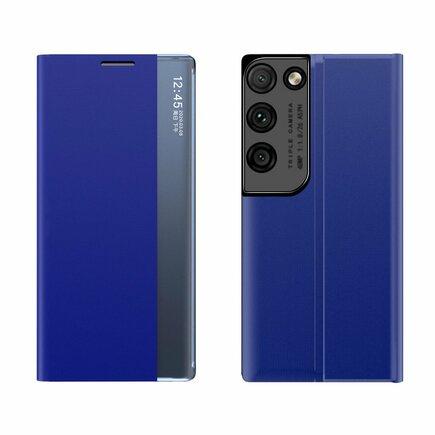 New Sleep Case pouzdro s klapkou s funkcí podstavce Samsung Galaxy S21 Ultra 5G modré