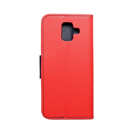 Pouzdro Fancy Book Samsung A6 2018 červené/tmavě modré