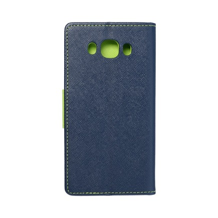 Pouzdro Fancy Book Samsung Galaxy J5 2016 tmavě modré/limetkové