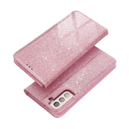 Pouzdro Forcell Shining Book iPhone 13 Pro růžově-zlaté