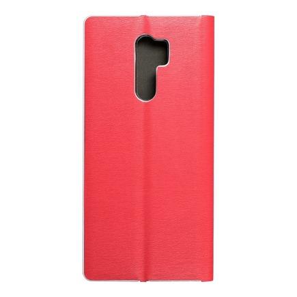 Pouzdro Luna Book Silver Xiaomi Redmi 9 červené