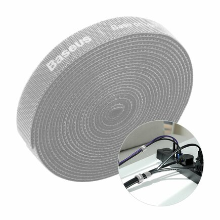 Rainbow Circle Velcro Straps - páska na suchý zip pro organizaci kabelů 3m šedá (ACMGT-F0G)