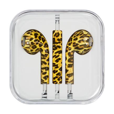 Sluchatka s mikrofonem iPhone iPad iPod levhart (vzorek 10)