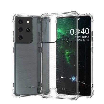 Wozinsky Anti Shock pancéřové pouzdro Samsung Galaxy S21 Ultra 5G průsvitné