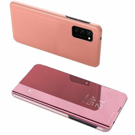 Clear View Case pouzdro s klapkou Samsung Galaxy A52 5G / A52 4G růžové