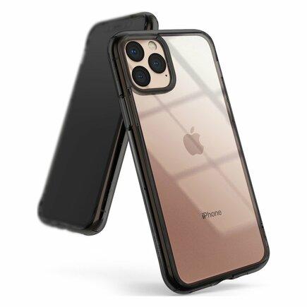 Fusion pouzdro s gelovým rámem iPhone 11 Pro Max šedé (FSAP0043)