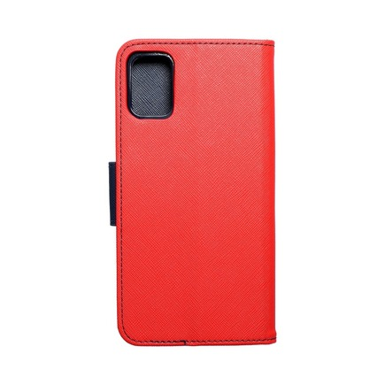 Pouzdro Fancy Book Samsung A51 5G červené/tmavě modré