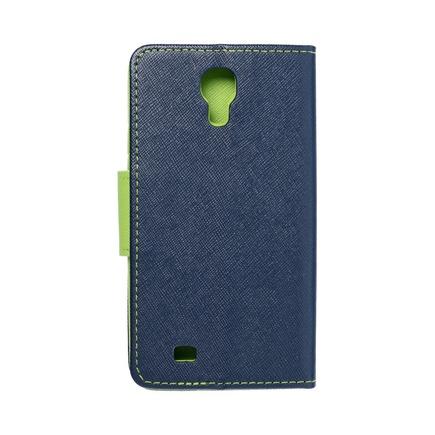 Pouzdro Fancy Book Samsung Galaxy S4 (I9500) tmavě modré/limetkové
