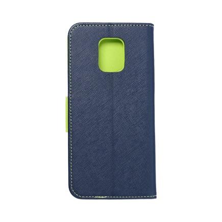 Pouzdro Fancy Book Xiaomi Note 9 Pro tmavě modré/limetkové