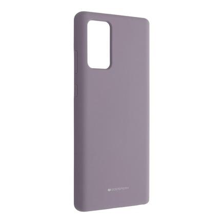 Pouzdro Mercury Silicone Samsung Note 20 levandulové