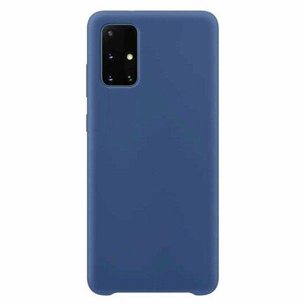 Silicone Case elastické silikonové pouzdro Samsung Galaxy A52 5G / A52 4G tmavě modré