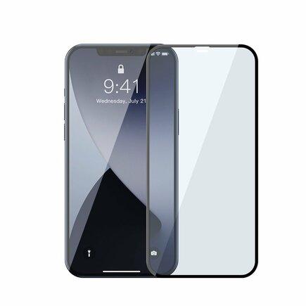 2x tvrzené sklo 0;3 mm Anti Blue Light na celý displej s rámem iPhone 12 Pro / iPhone 12 černé (SGAPIPH61P-KB01)