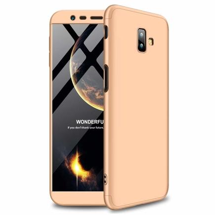 360 Protection pouzdro na přední i zadní část telefonu Samsung Galaxy J6 Plus 2018 J610 zlaté