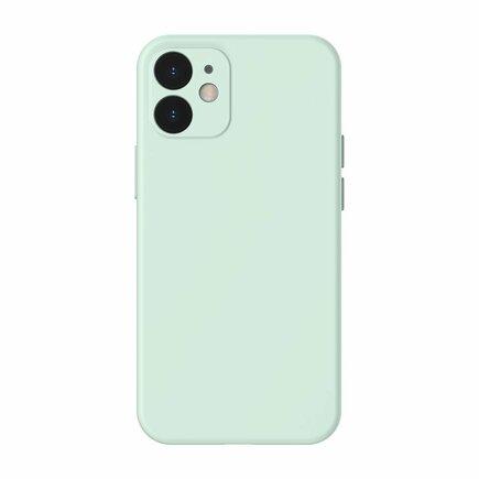 Baseus Liquid Silica Gel Case elastické gelové pouzdro iPhone 12 mini mátově zelené (WIAPIPH54N-YT6B)