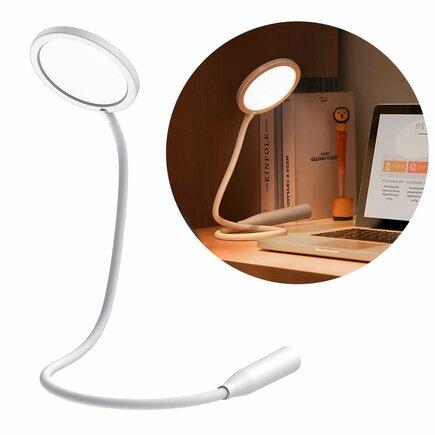 Baseus flexibilní bezdrátová kancelářská stolní lampa LED s dobíjecí baterií bílá (DGYR-02)