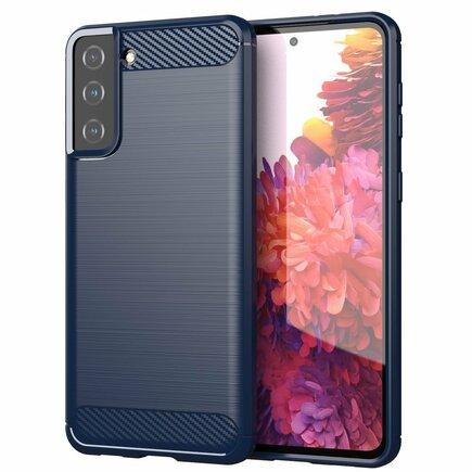 Carbon Case elastické pouzdro Samsung Galaxy S21+ 5G (S21 Plus 5G) modré