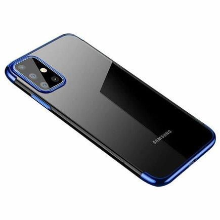 Clear Color case gelové pouzdro s metalickým rámem Samsung Galaxy A41 modré