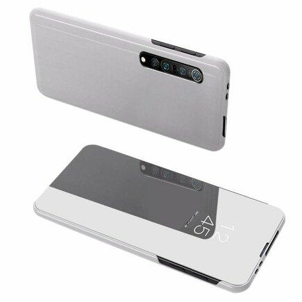 Clear View Case pouzdro s klapkou Xiaomi Mi Note 10 Lite stříbrné