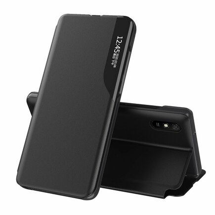 Eco Leather View Case elegantní pouzdro s klapkou a funkcí podstavce Poco X3 NFC černé