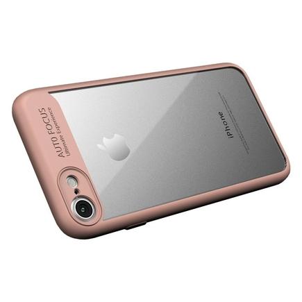 Frame elastické gelové pouzdro s rámem iPhone 8 / 7 růžové