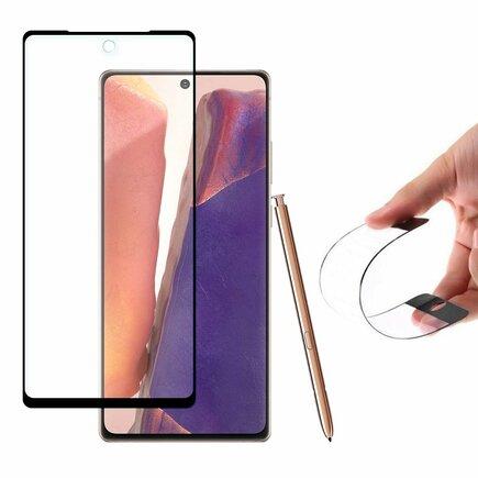 Full Cover Flexi Nano skleněná fólie s rámem Samsung Galaxy Note 20 černá