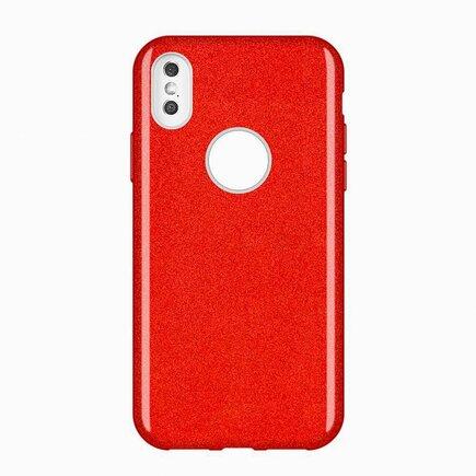 Glitter Case lesklé pouzdro s brokátem Huawei Mate 30 Lite červené