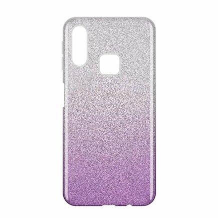 Glitter Case lesklé pouzdro s brokátem Samsung Galaxy A40 fialové