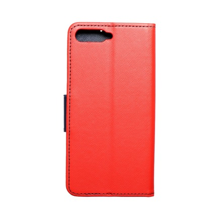 Pouzdro Fancy Book Huawei Y6 2018 červené/tmavě modré